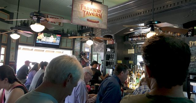 Po' Boy Sandwich at Parkway Bakery and Tavern
